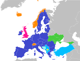 Western Europe Political Map by Future Enlargement Of The European Union Wikipedia