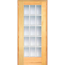 mmi door 33 5 in x 81 75 in classic clear beveled 15 lite