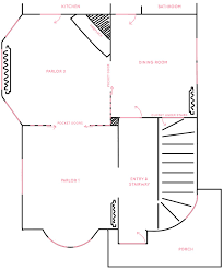 Servant Quarters Floor Plans The Victorian House U0027s Floor Plan Entryway Double Parlor And