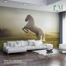 white horse wall mural wild horse self adhesive peel wall white horse wall mural wild horse self adhesive peel