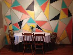how to paint a triangle wall mural in 4 hours and 30 addendum so