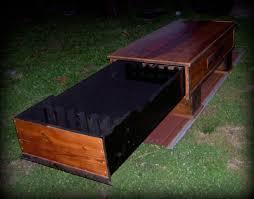 barn wood coffee table hidden gun cabinet lodging lodging