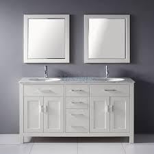 Bathroom Vanity Double by 63 Inch Double Sink Bathroom Vanity With Marble Top In White
