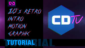 80s retro intro motion graphic tutorial after effects youtube