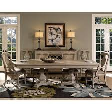 Palliser Alula Rocky Point Wood Rectangular Double Pedestal Dining Table In