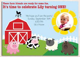 Birthday Invitation Cards Models Farm Birthday Invitations Themesflip Com