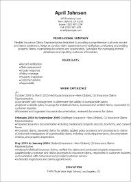 Professional Insurance Claims Representative Resume Templates to     Resume Templates  Insurance Claims Representative Resume