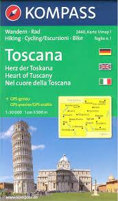 Tuscany Map Heart Of Tuscany Italy Set Of 4 Hiking And Touring Maps 1 50 000