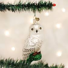 amazon com old world christmas great white owl glass blown