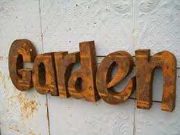 Metal Decorative Letters Home Decor 3d Garden Wall Art Wallartideas Info