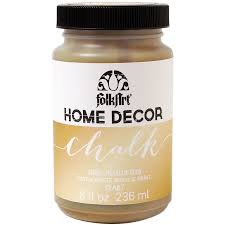 folkart home decor chalk paint metallic 8oz gold