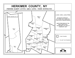 New York County Map by Radon New York State Department Of Health Wadsworth Center