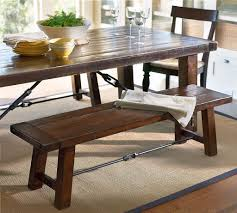rustic dining room tables with benches with inspiration gallery