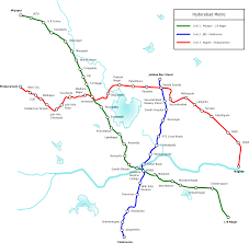 Metro Lines Map by Hyderabad Metro Rail U2014 Map Lines Route Hours Tickets