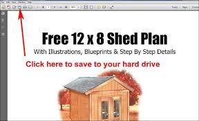 beautiful 8 x 12 storage shed plans