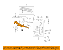 lexus rx330 evaporator lexus toyota oem 04 06 rx330 wiper front transmission 851500e010