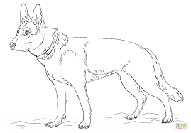 german shepherd dog coloring page free printable coloring pages