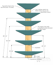 Wood Shelf Plans Free by Ana White Corner Cupboard Diy Projects