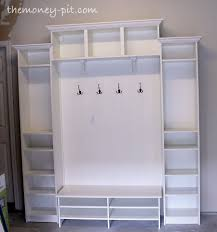 Ikea Bookcase White by Diy Mudroom Shelving Unit Using Ikea Billy Shelves Nest Cozy