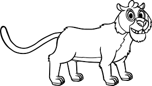 morphle cartoon my cute pet tiger coloring page wecoloringpage