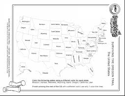 Arizona Us Map by Wonderful United States Of America Map Coloring Page With Us Map
