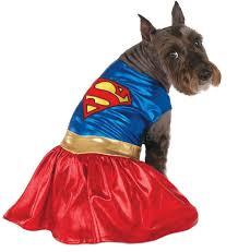Supergirl Halloween Costume Amazon Dc Comics Pet Costume Large Supergirl Dog