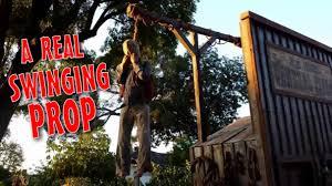 make a pneumatic thrasher hangman u0026 gallows prop diy halloween