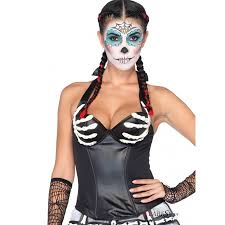 Kids Skeleton Halloween Costume by Skeleton Hand Day Of The Dead Halloween Bustier