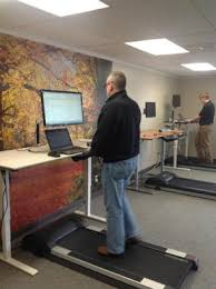 walking at work treadmill desks soaring in popularity