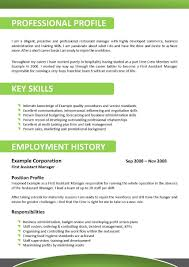 Sample Resume Qualifications List by Resume Example For Hospitality Templates