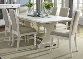 harbor view ii trestle extendable dining room set from liberty