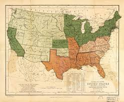 G Map Free And Slave States Map U2013 State Territory And City Populations