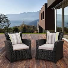 Resin Wicker Patio Furniture Sets - atlantic staffordshire resin wicker patio club chair set of 2