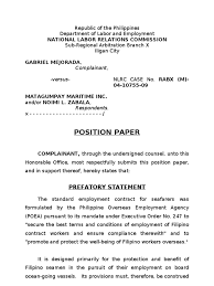 Resume Sample Format For Seaman by Mejorada Position Paper Damages Employment