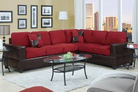 furniture charming l shaped cheap sectional sofas in red and charming l shaped cheap sectional sofas in red and black on wheat floor plus white carpet and oval glass table for living room decor ideas