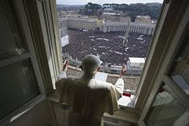 Pope Benedict XVI leads his