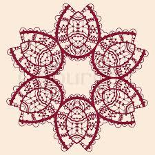 Indian Flower Design Ornamental Outline Mandala Vector Square Flyer Card Design