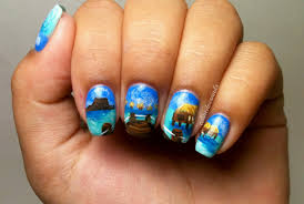 nails by celine tahitian beach nail art