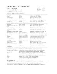 Actor Resume Commercial Acting Resume Beginning Actors Intended For Acting Resume Template