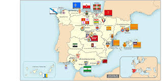 Spain Political Map by Spain Map Autonomous Communities U2013 World Map Weltkarte Peta