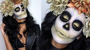 The 15 Best Sugar Skull Makeup Looks For Halloween Halloween by Gold Sugar Skull Makeup Tutorial U0026 Costume Youtube