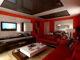 living room ideas with red sectional studio and black leather sofa