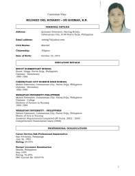registered nurse resume samples sample resume for nurses going abroad frizzigame resume sample philippines nurse frizzigame