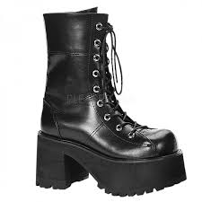 high heel motorcycle boots ranger womens platform combat boot gothic millitary style boot