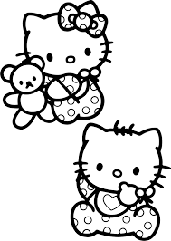 baby hello kitty coloring pages wecoloringpage