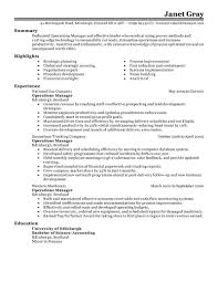 Best Resume For Hotel Management by Best Operations Manager Resume Example Livecareer