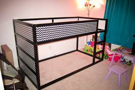 Diy Ikea Bed Diy Chevron Ikea Kura Bed Hack Mommyneurotic