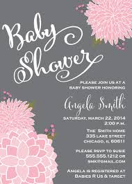 Invitation Cards For Baby Shower Templates Pink Baby Shower Invitations Kawaiitheo Com