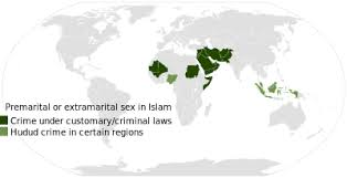 Fornication   Wikipedia Islamic parts of the world where sex before or outside marriage is forbidden  Sharia considers consensual premarital sex a hudud crime  and requires public