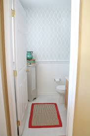 Powder Room Door Powder Room Reveal And Some Stenciling Tips And Tricks